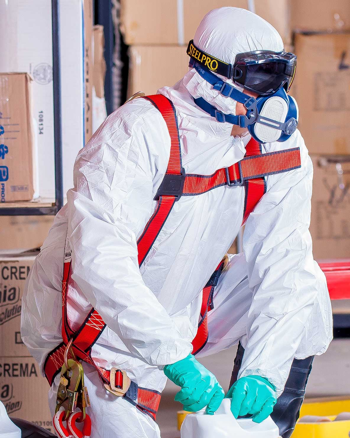 Virus cleaning protective clothing